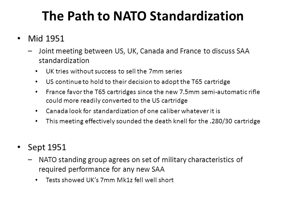 The Path to NATO Standardization