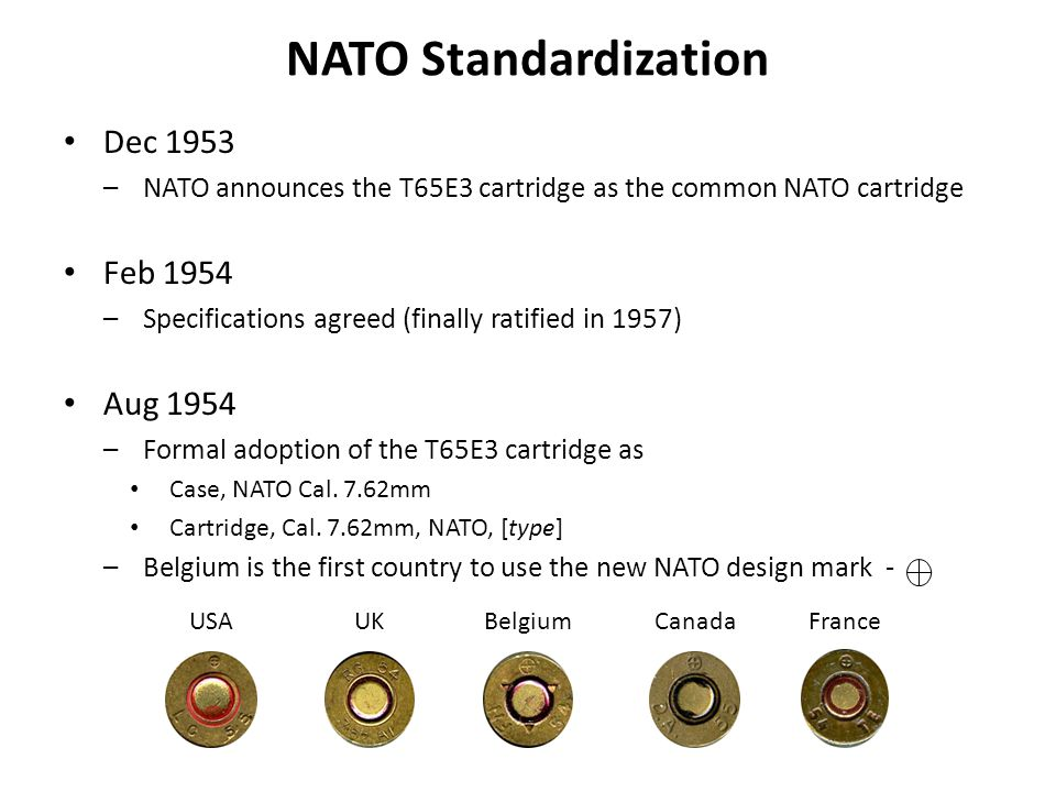 NATO Standardization Dec 1953 Feb 1954 Aug 1954