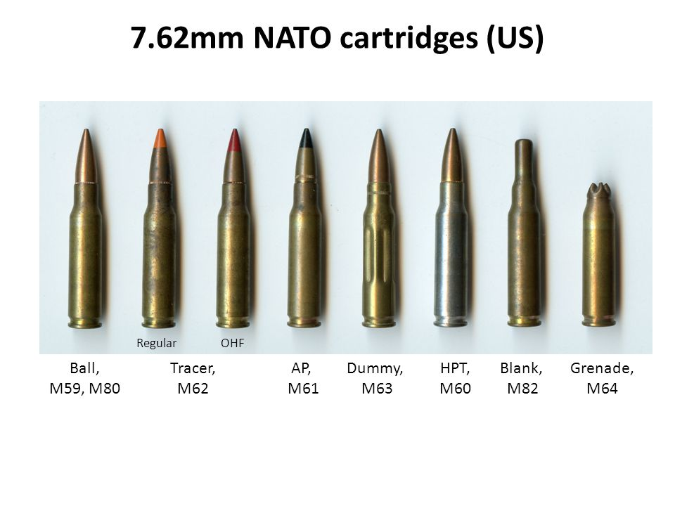 7.62mm NATO cartridges (US)