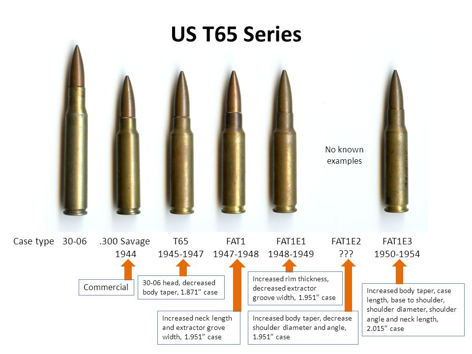US T65 Series .300 Savage 1944 T65 1945-1947 FAT1 1947-1948 FAT1E1