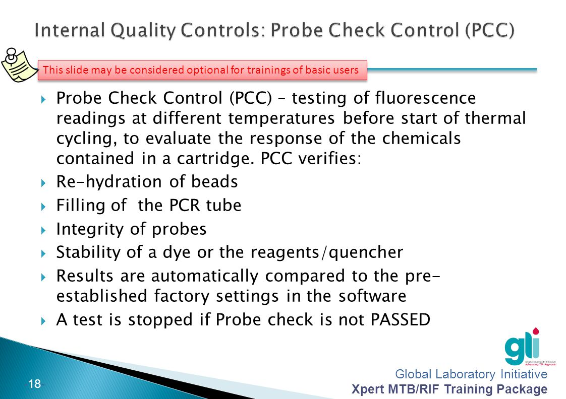 Internal Quality Controls: Probe Check Control (PCC)