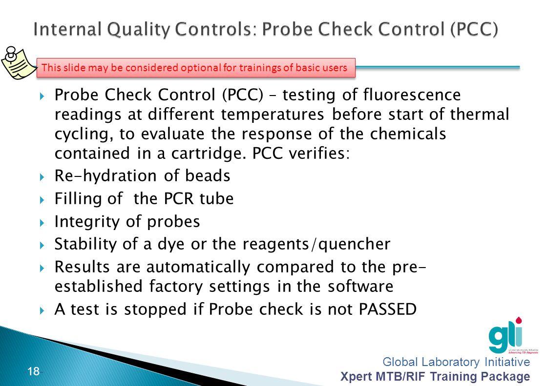 Internal Quality Controls: Probe Check Control (PCC)