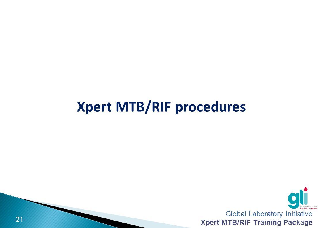 Xpert MTB/RIF procedures