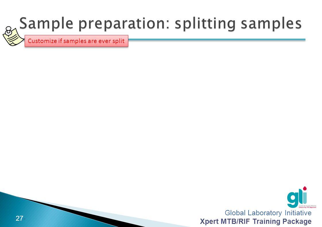 Sample preparation: splitting samples