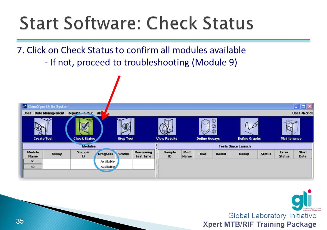 Start Software: Check Status