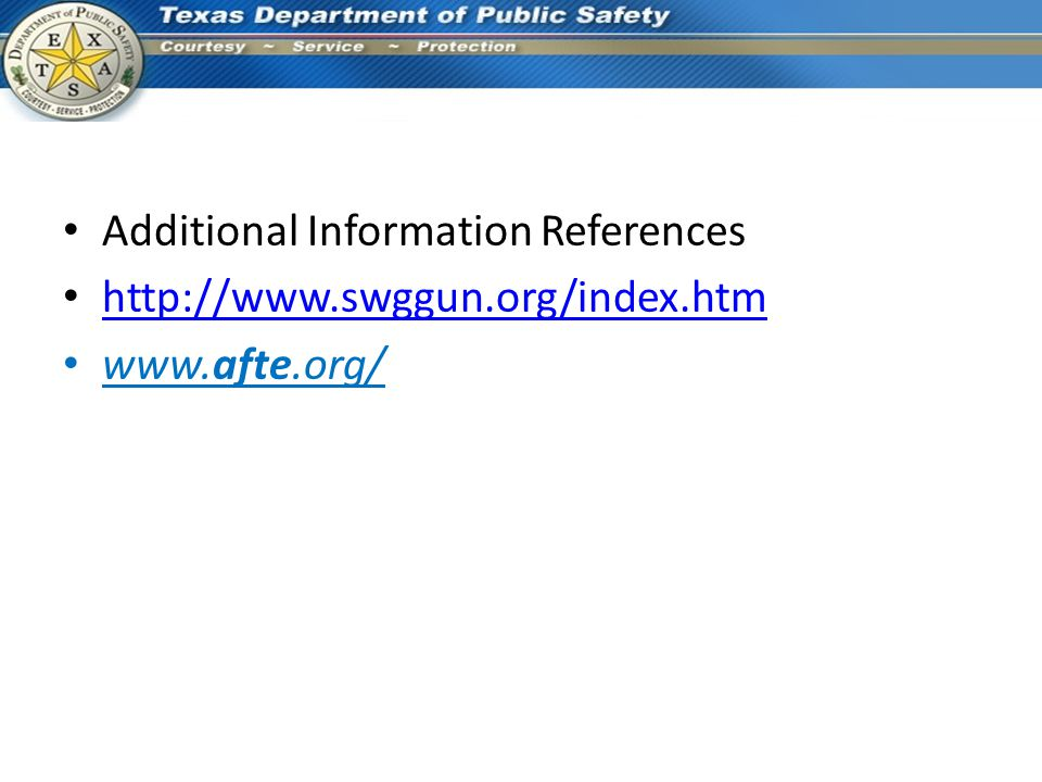 Additional Information References