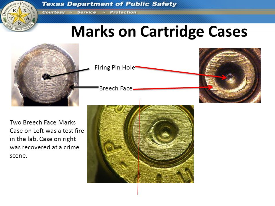 Marks on Cartridge Cases