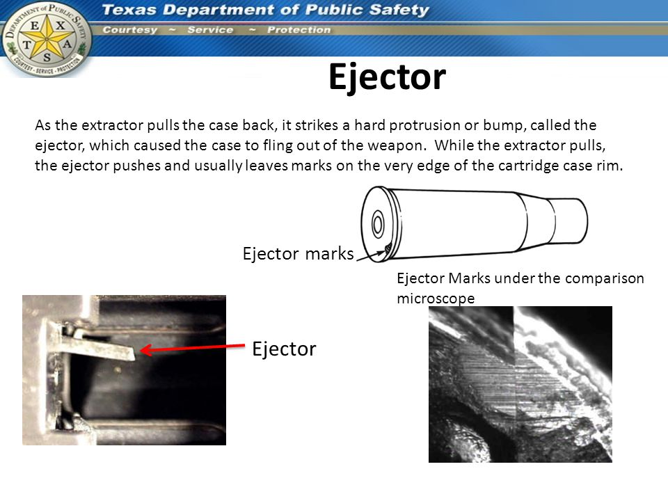 Ejector Ejector Ejector marks