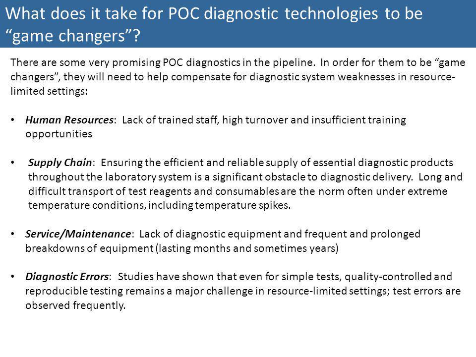 What does it take for POC diagnostic technologies to be game changers