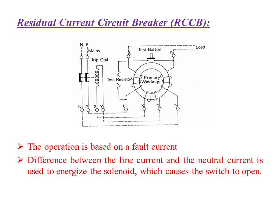 Residual Current Circuit Breaker (RCCB):