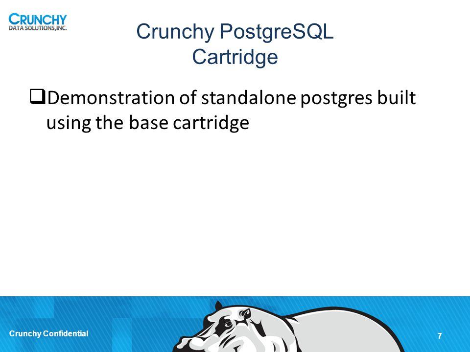Crunchy PostgreSQL Cartridge