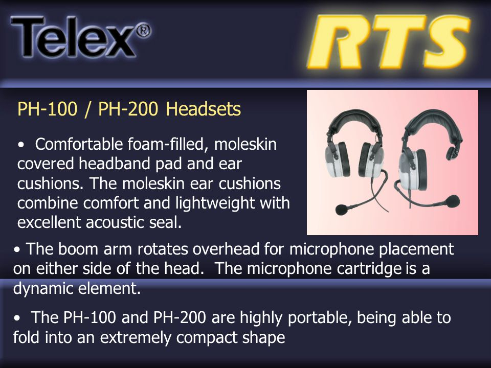 PH-100 / PH-200 Headsets