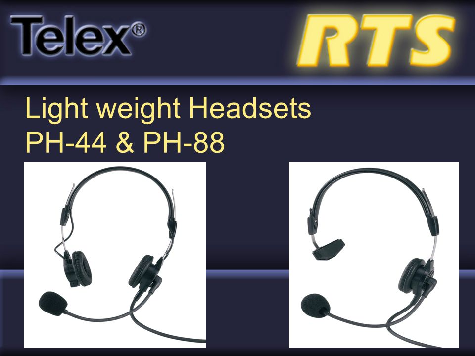 Light weight Headsets PH-44 & PH-88
