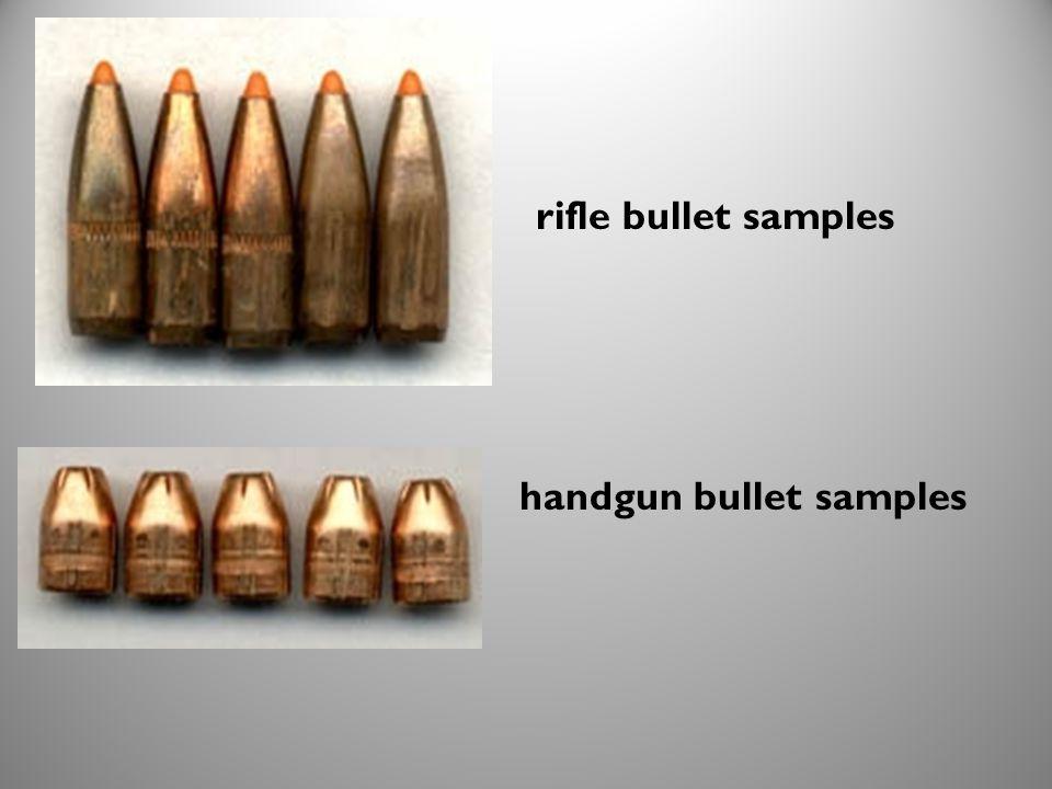 handgun bullet samples