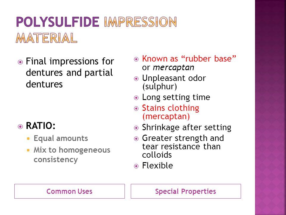 Polysulfide Impression Material