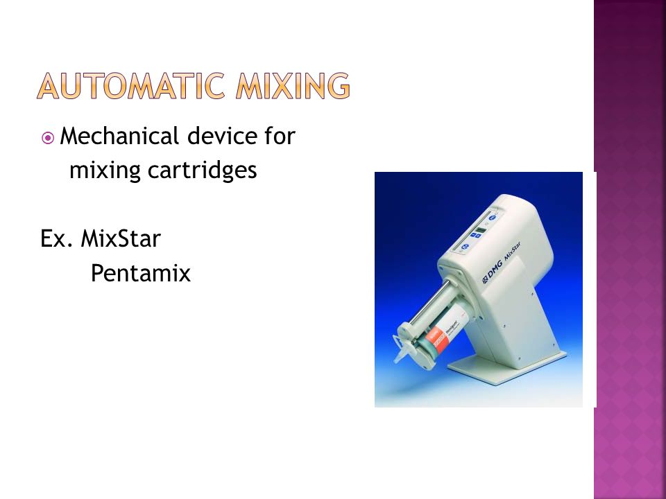Automatic Mixing Mechanical device for mixing cartridges Ex. MixStar