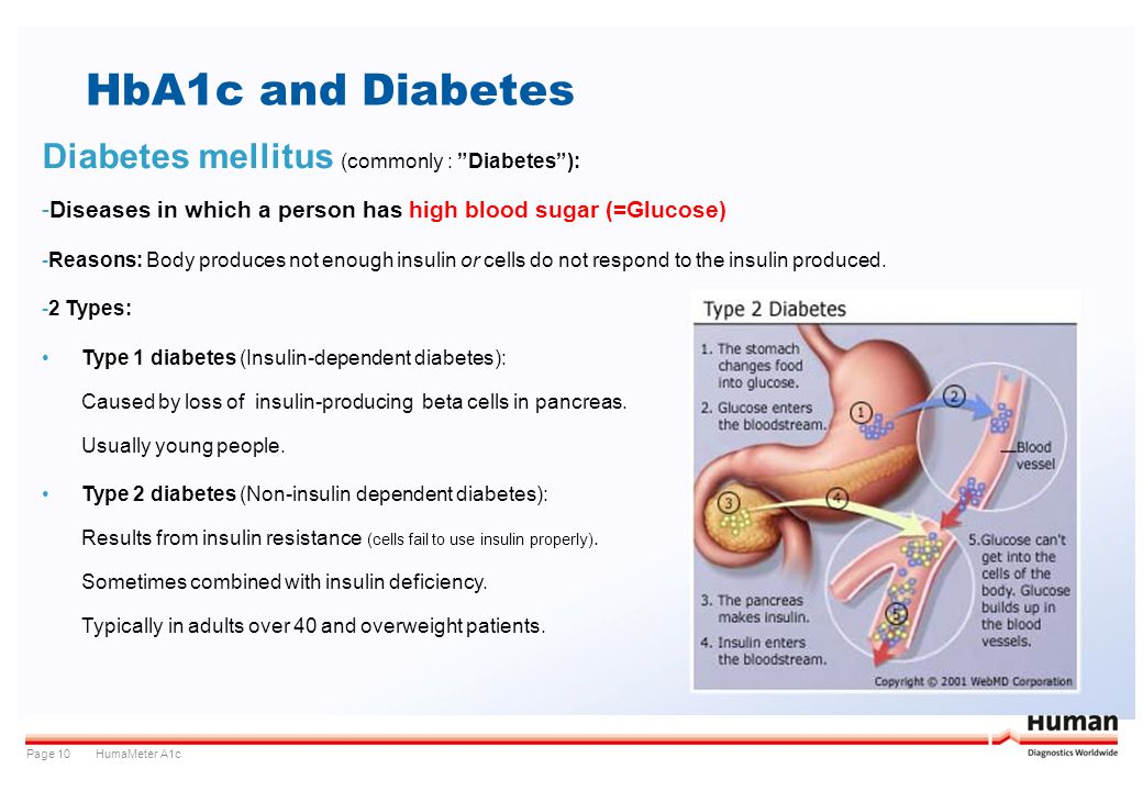 HbA1c and Diabetes Diabetes mellitus (commonly : Diabetes ):