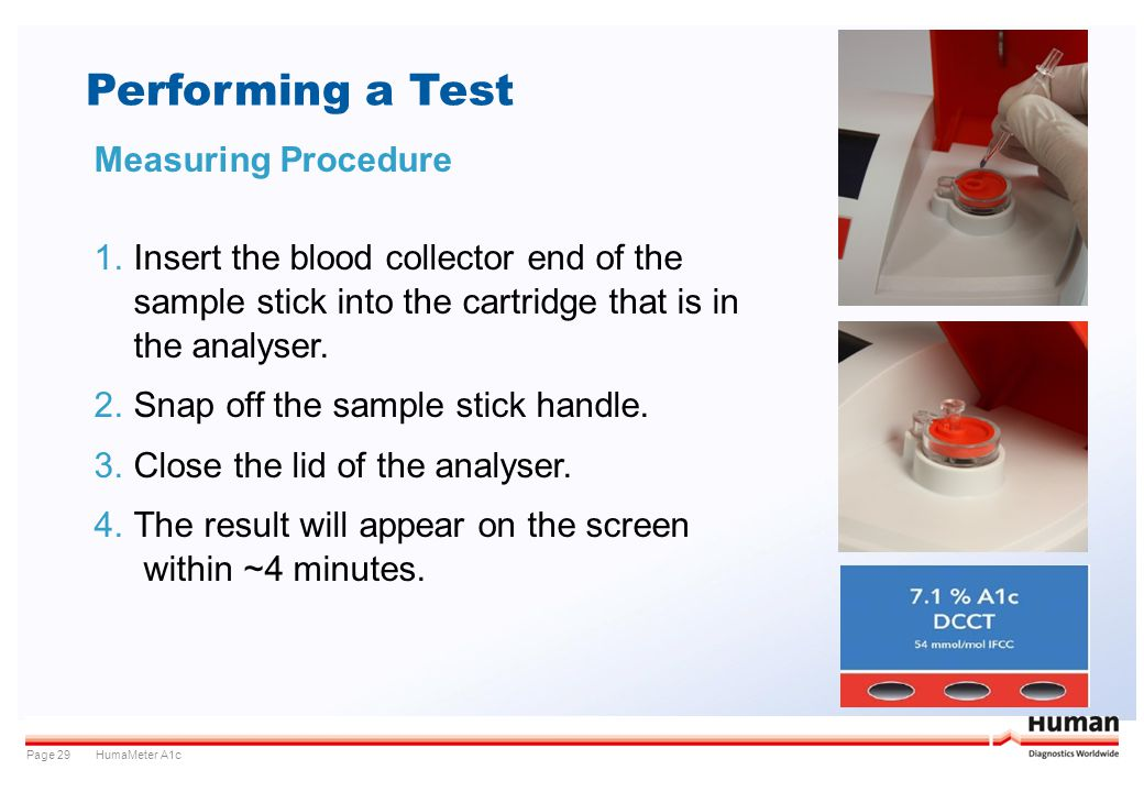 Performing a Test Measuring Procedure