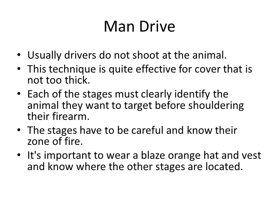 Man Drive Usually drivers do not shoot at the animal.