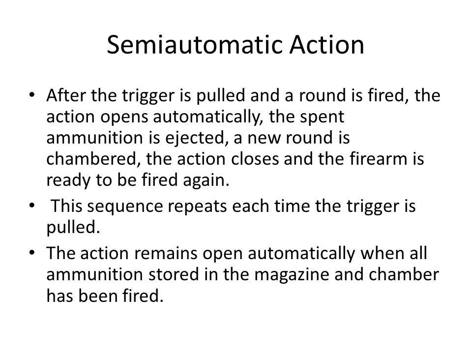 Semiautomatic Action