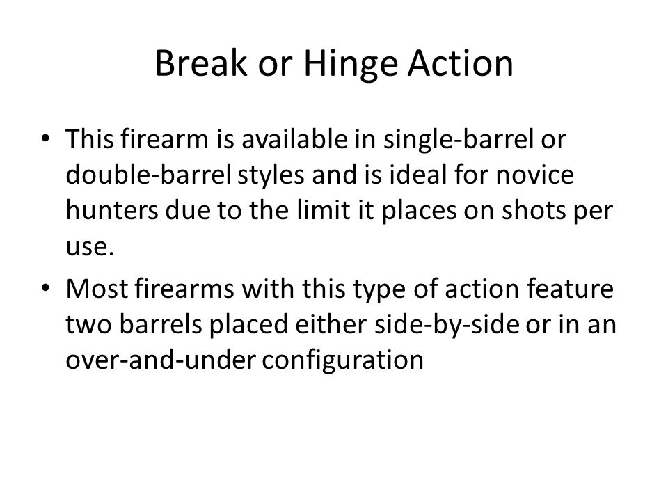Break or Hinge Action