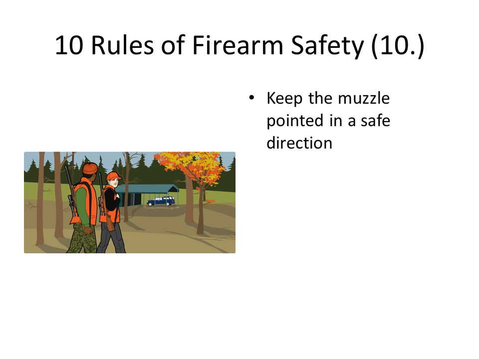 10 Rules of Firearm Safety (10.)