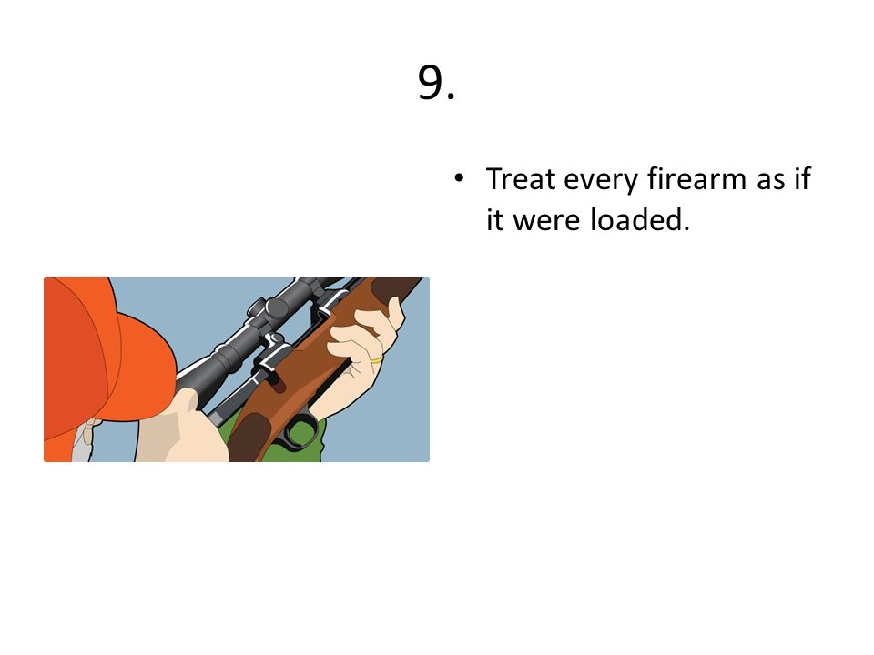 9. Treat every firearm as if it were loaded.