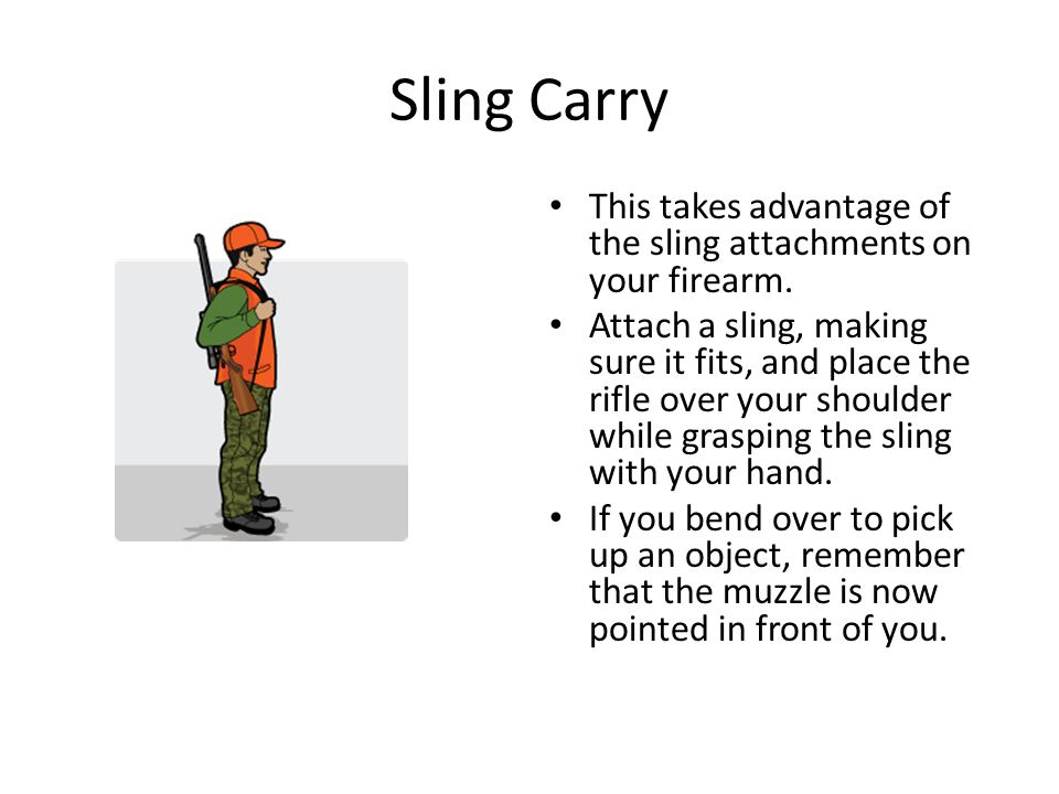 Sling Carry This takes advantage of the sling attachments on your firearm.