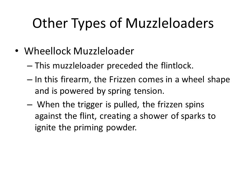 Other Types of Muzzleloaders
