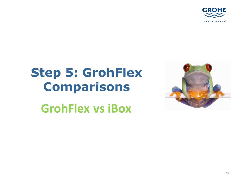 Step 5: GrohFlex Comparisons