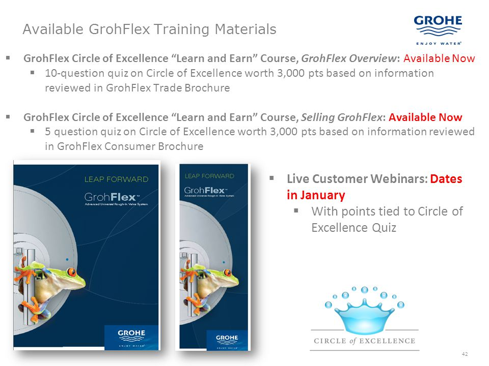 Available GrohFlex Training Materials