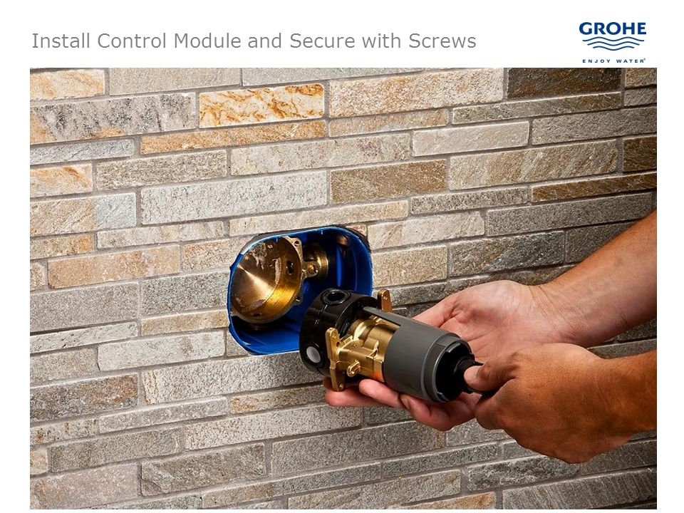 Install Control Module and Secure with Screws
