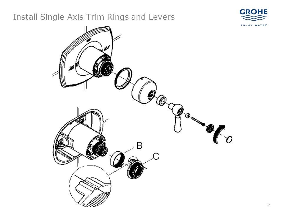 Install Single Axis Trim Rings and Levers