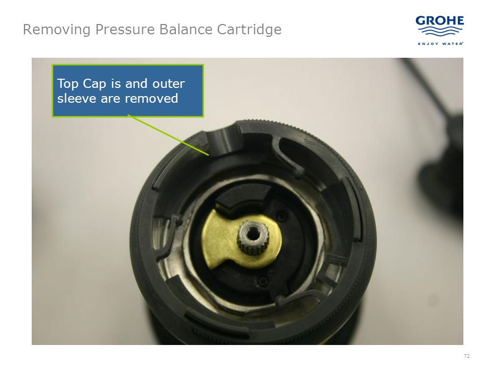 Removing Pressure Balance Cartridge