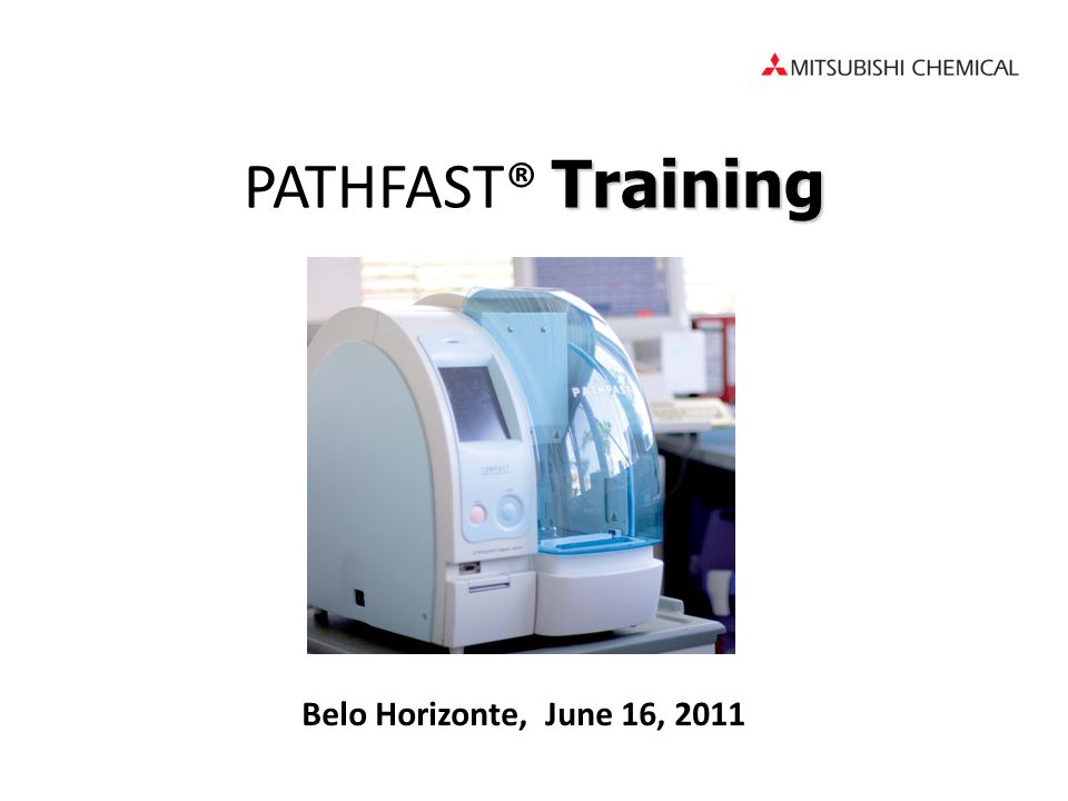 PATHFAST® Training Belo Horizonte, June 16, 2011