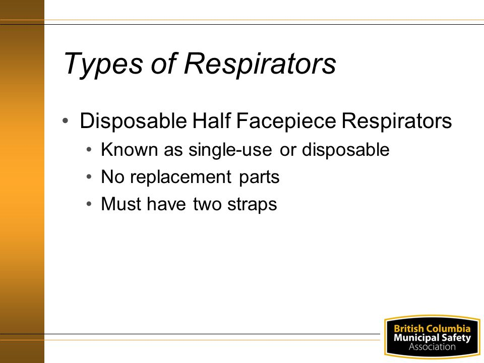 Types of Respirators Disposable Half Facepiece Respirators