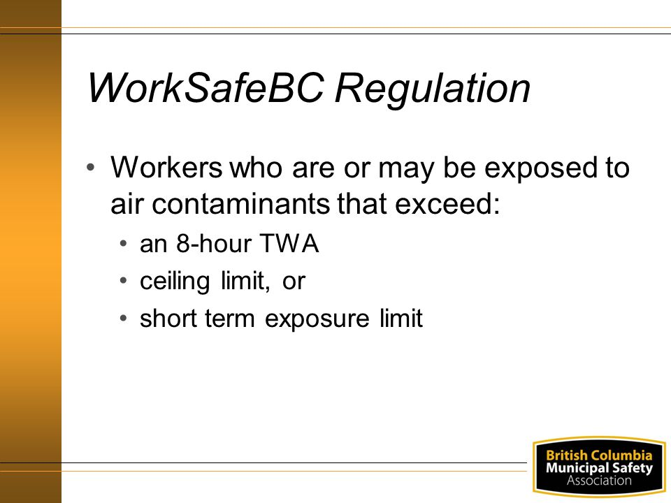 WorkSafeBC Regulation