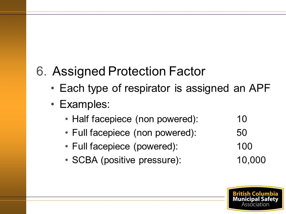 Assigned Protection Factor