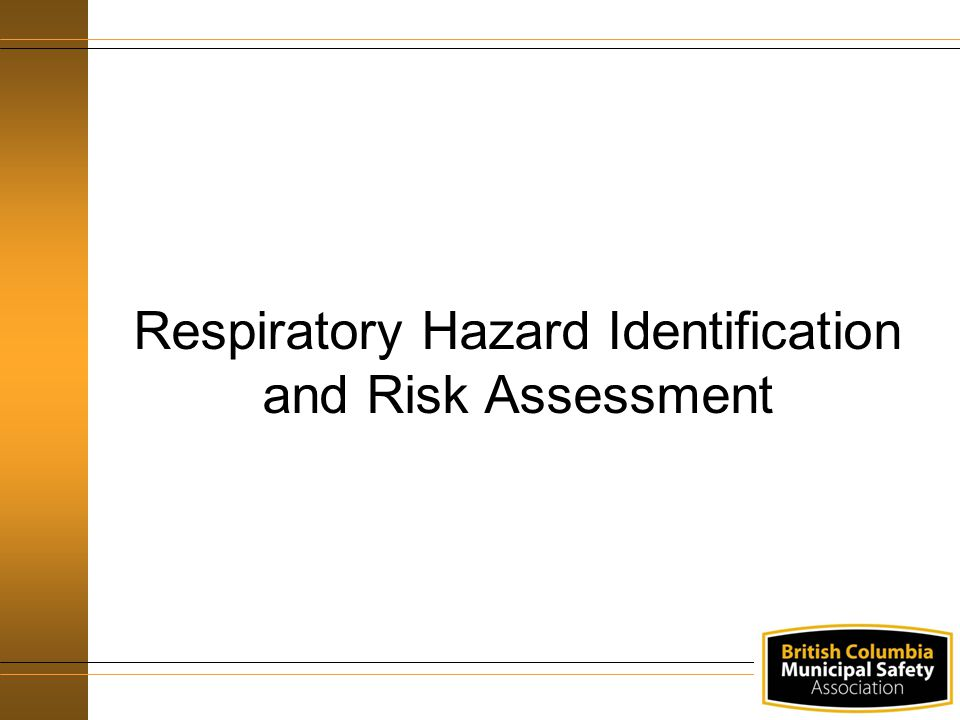 Respiratory Hazard Identification and Risk Assessment
