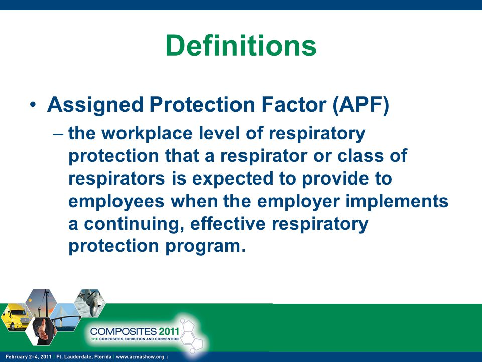 Definitions Assigned Protection Factor (APF)