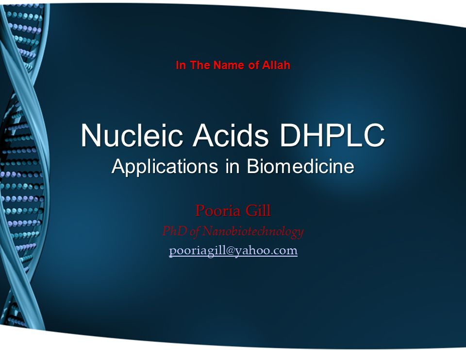 Nucleic Acids DHPLC Applications in Biomedicine