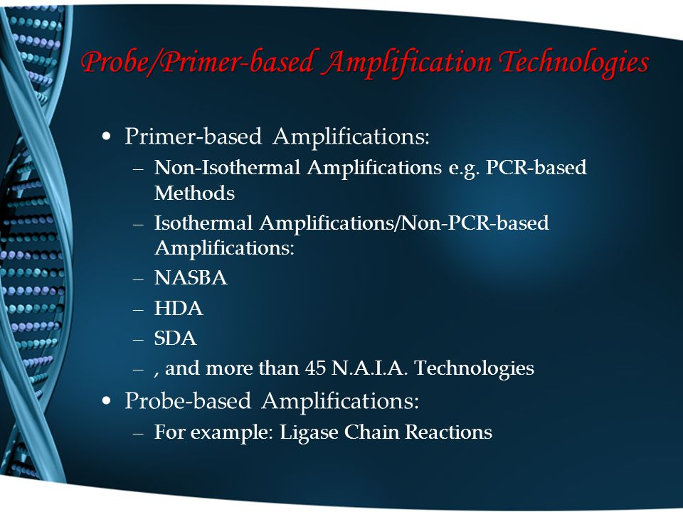 Probe/Primer-based Amplification Technologies