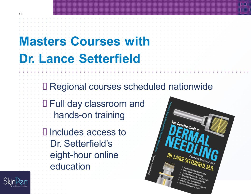 Masters Courses with Dr. Lance Setterfield