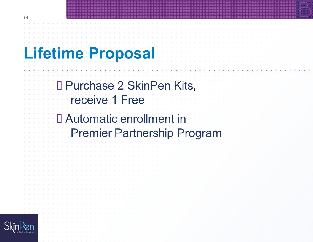 """Lifetime Proposal """" Purchase 2 SkinPen Kits, receive 1 Free"""