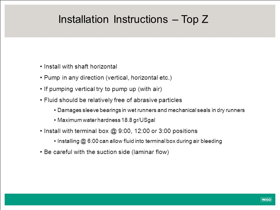 Installation Instructions – Top Z