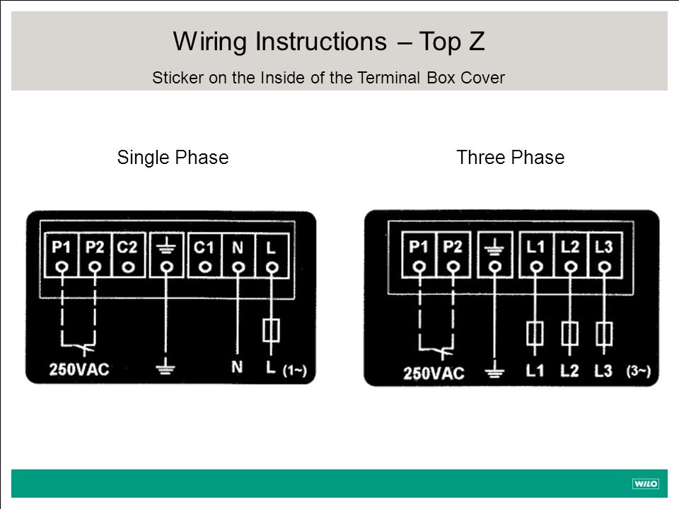 Wiring Instructions – Top Z