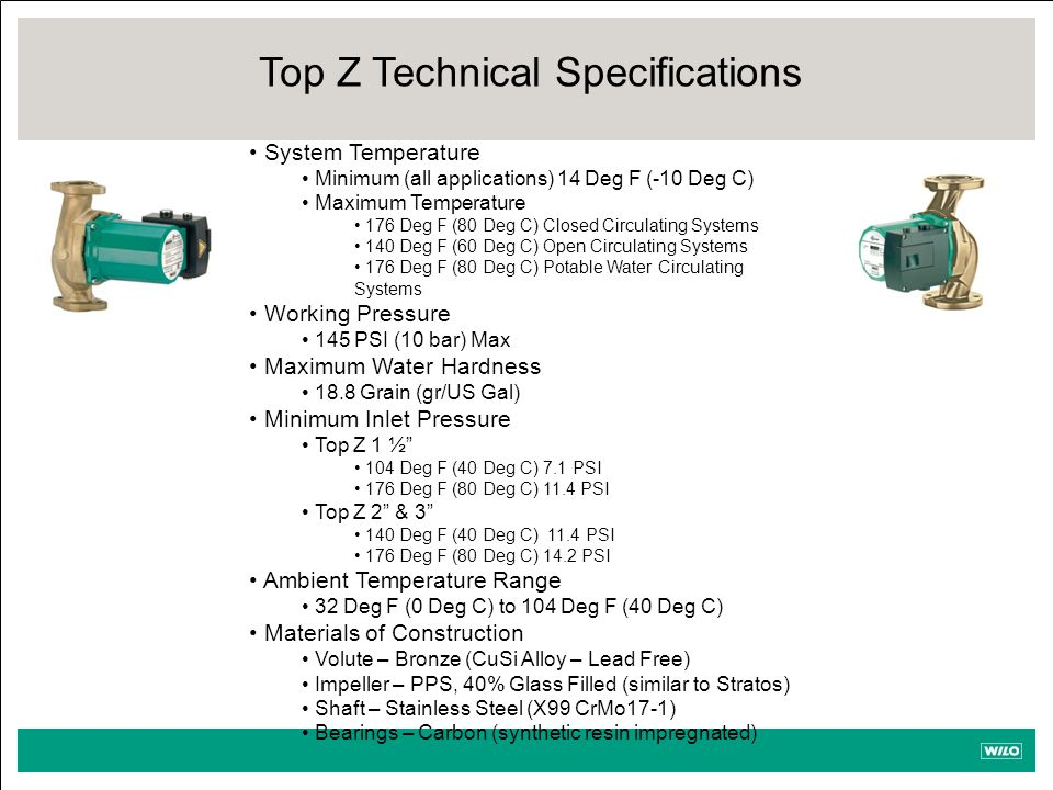 Top Z Technical Specifications
