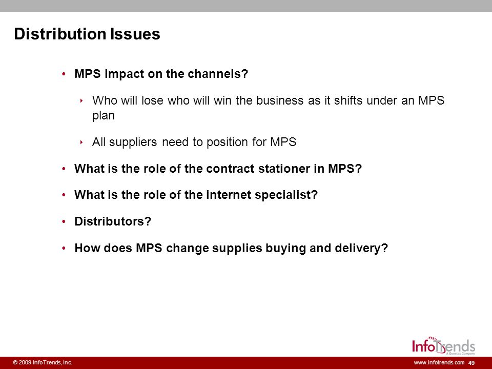 Distribution Issues MPS impact on the channels