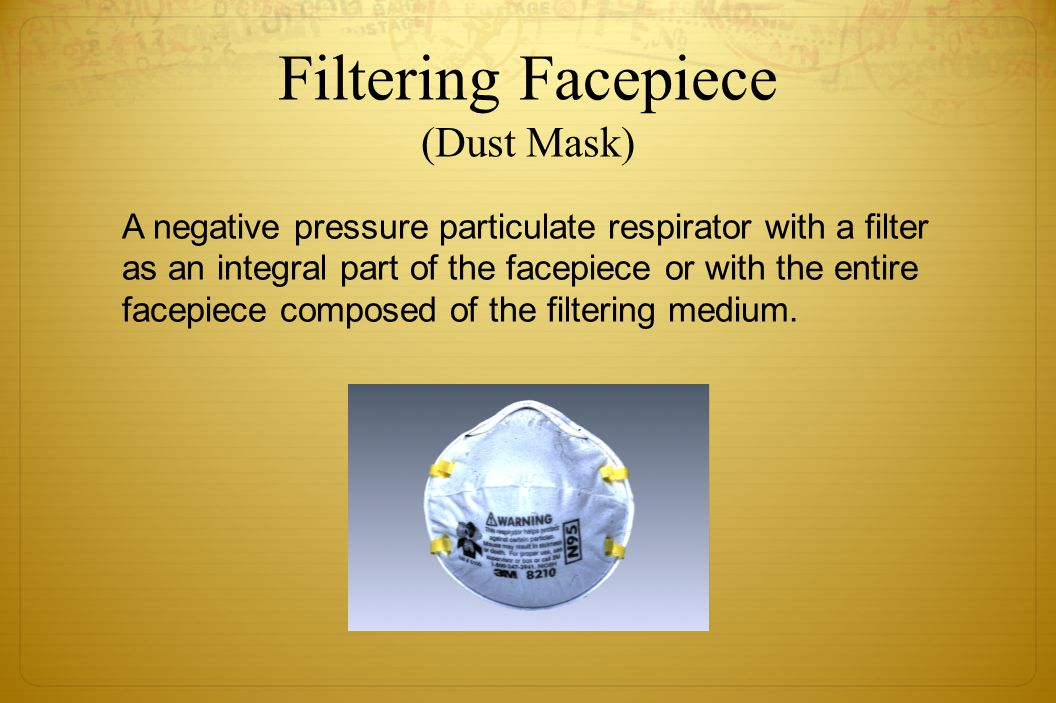 Filtering Facepiece (Dust Mask)