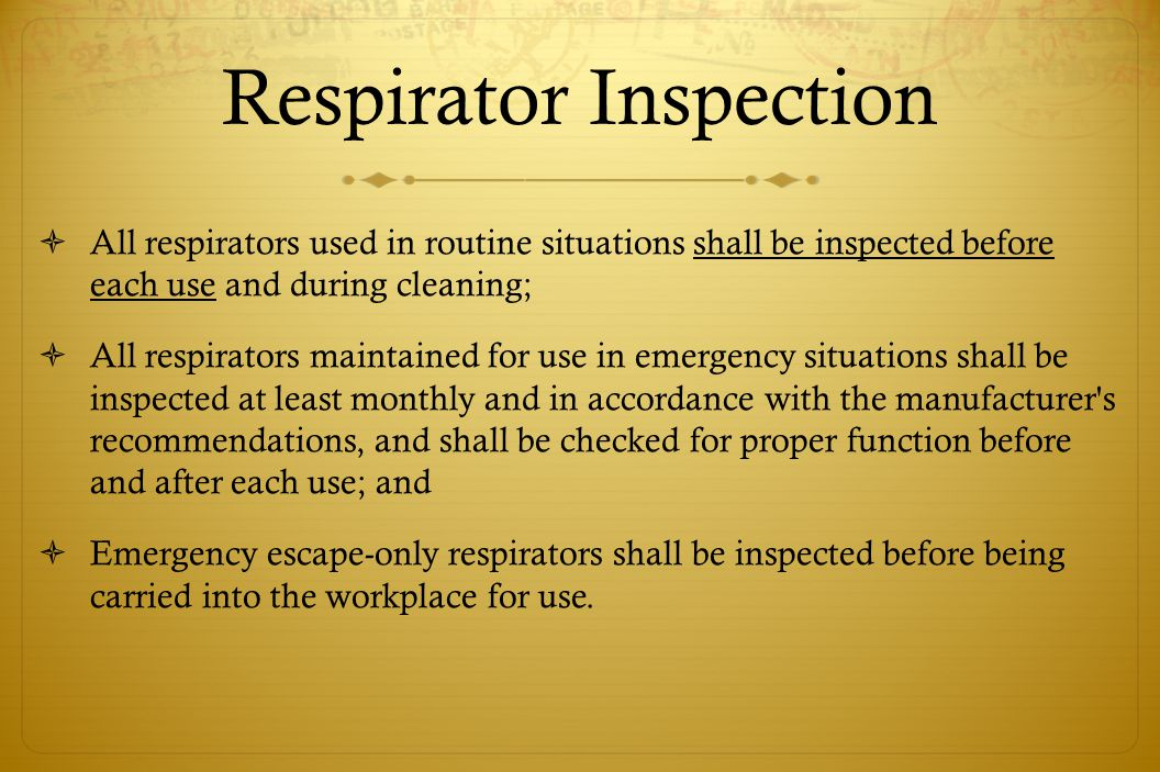 Respirator Inspection